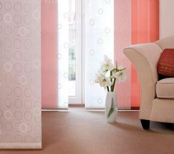 фото пример японских штор в квартире